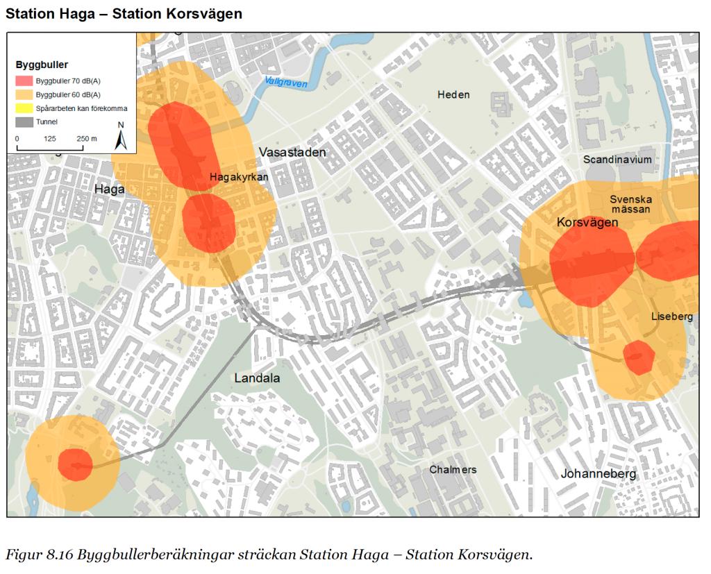 Station Haga – Landala – Johanneberg – Station Korsvägen