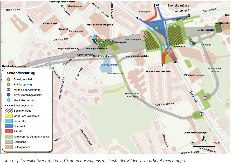 korsvägen göteborg karta Station Korsvägen – Liseberg korsvägen göteborg karta