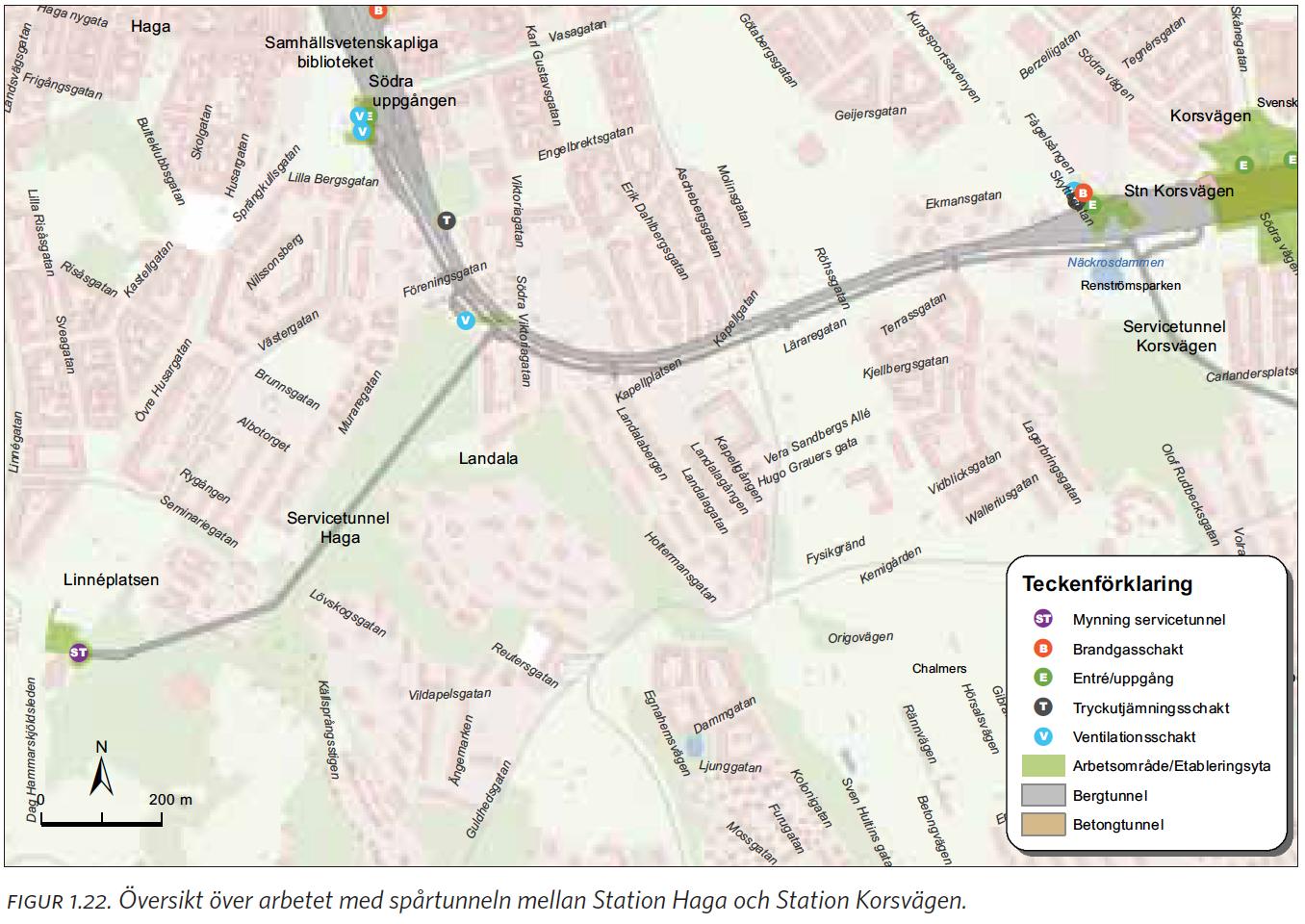 korsvägen göteborg karta Station Haga – Landala – Johanneberg – Station Korsvägen korsvägen göteborg karta