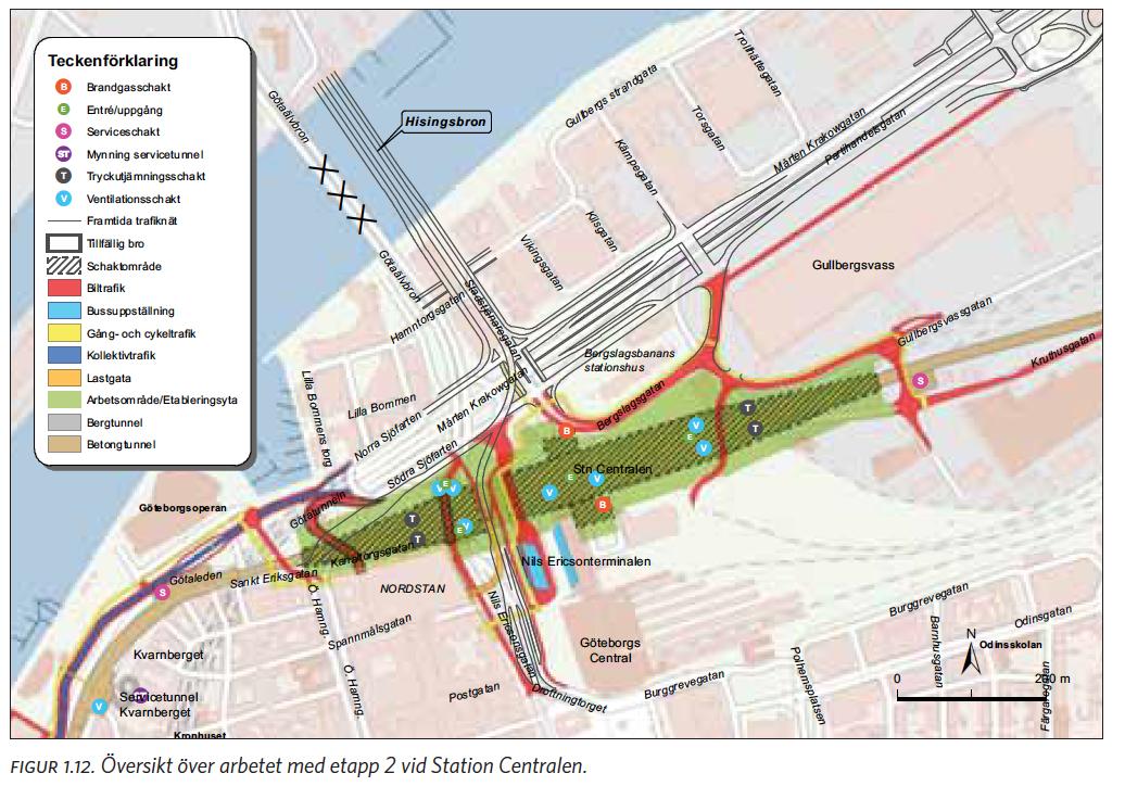centralstationen göteborg karta I Västlänkens spår, en sammanfattning   Del 1   Stoppa Västlänken Nu centralstationen göteborg karta